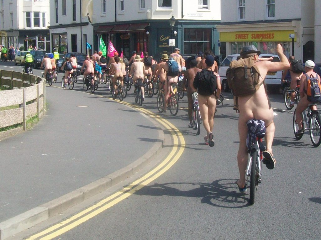 World Naked Bike Ride, Brighton, 2010 - by AnemoneProjectors - CC BY-SA 2.0