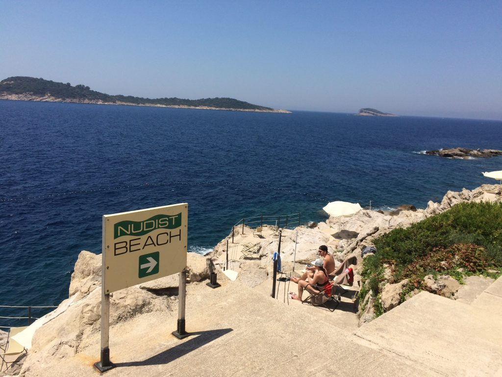 Nudist beaches in the Dubrovnik Riviera in Croatia