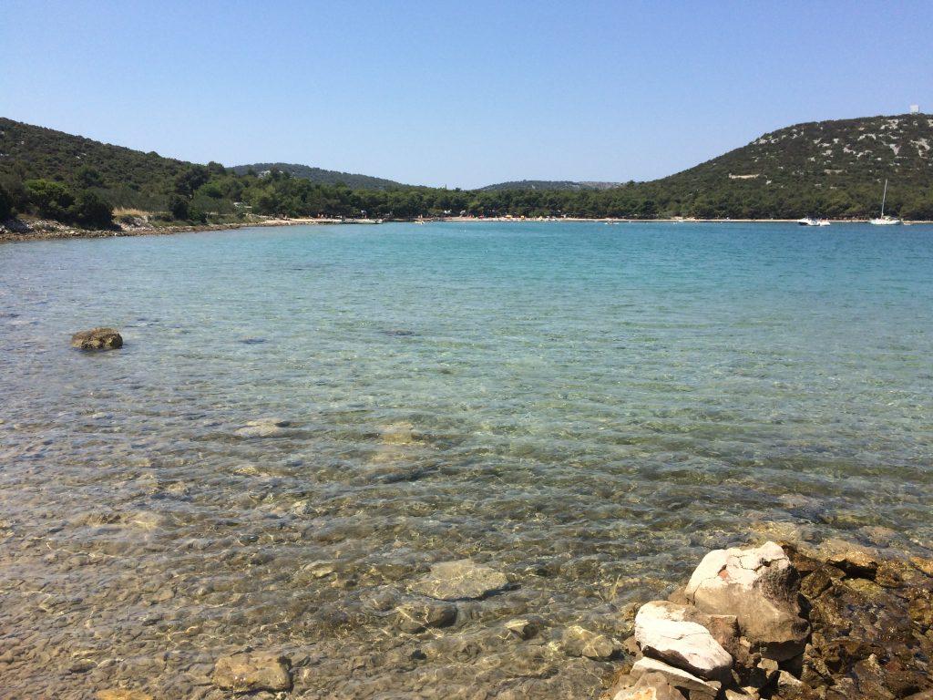 Nudism in Jasina, Murter, Croatia