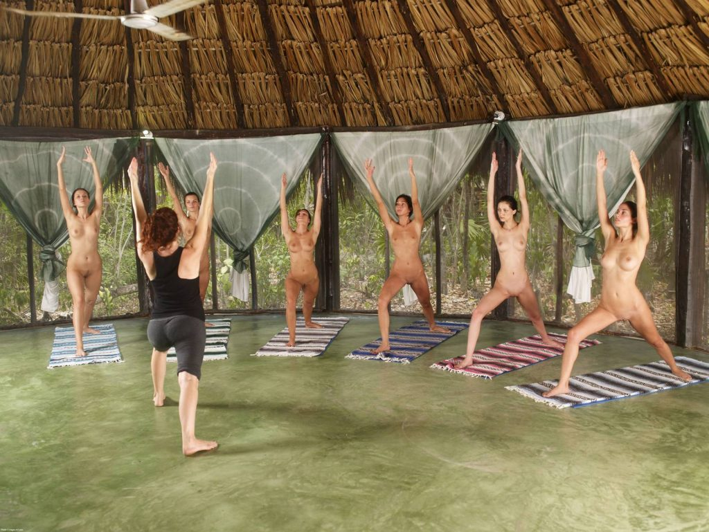 Our First Naked Pilates Class