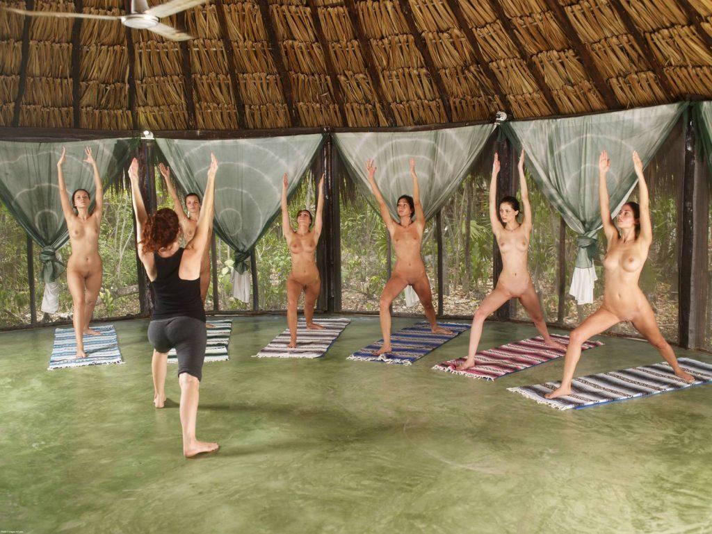Naked Pilates Class