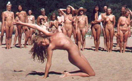 naturist beach party