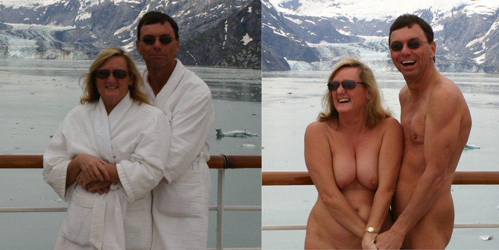 amateur nude beach couple