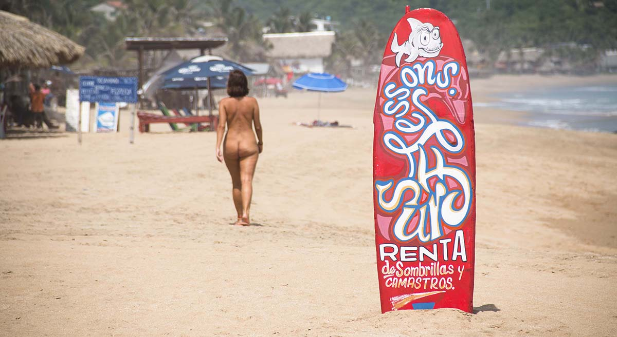 The clothing optional beach in Zipolite, Oaxaca, Mexico is perfect for all nudists and naturists