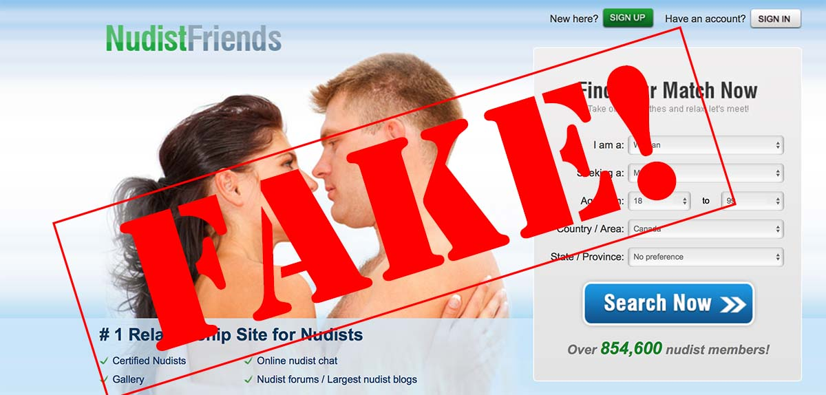 Malicious websites stealing naturist pictures