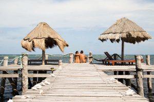 Nudist hotel Playa Sonrisa in Xcalak, Mexico