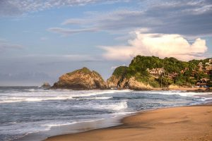 Zipolite nude beach in Mexico