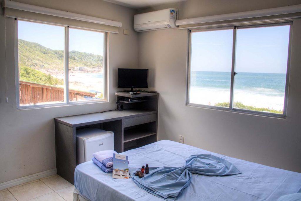 Praia do Pinho nude beach and naturist camping near Florianopolis, Brazil