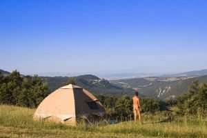 Naturist camping Sasso Corbo in Tuscany, Italy
