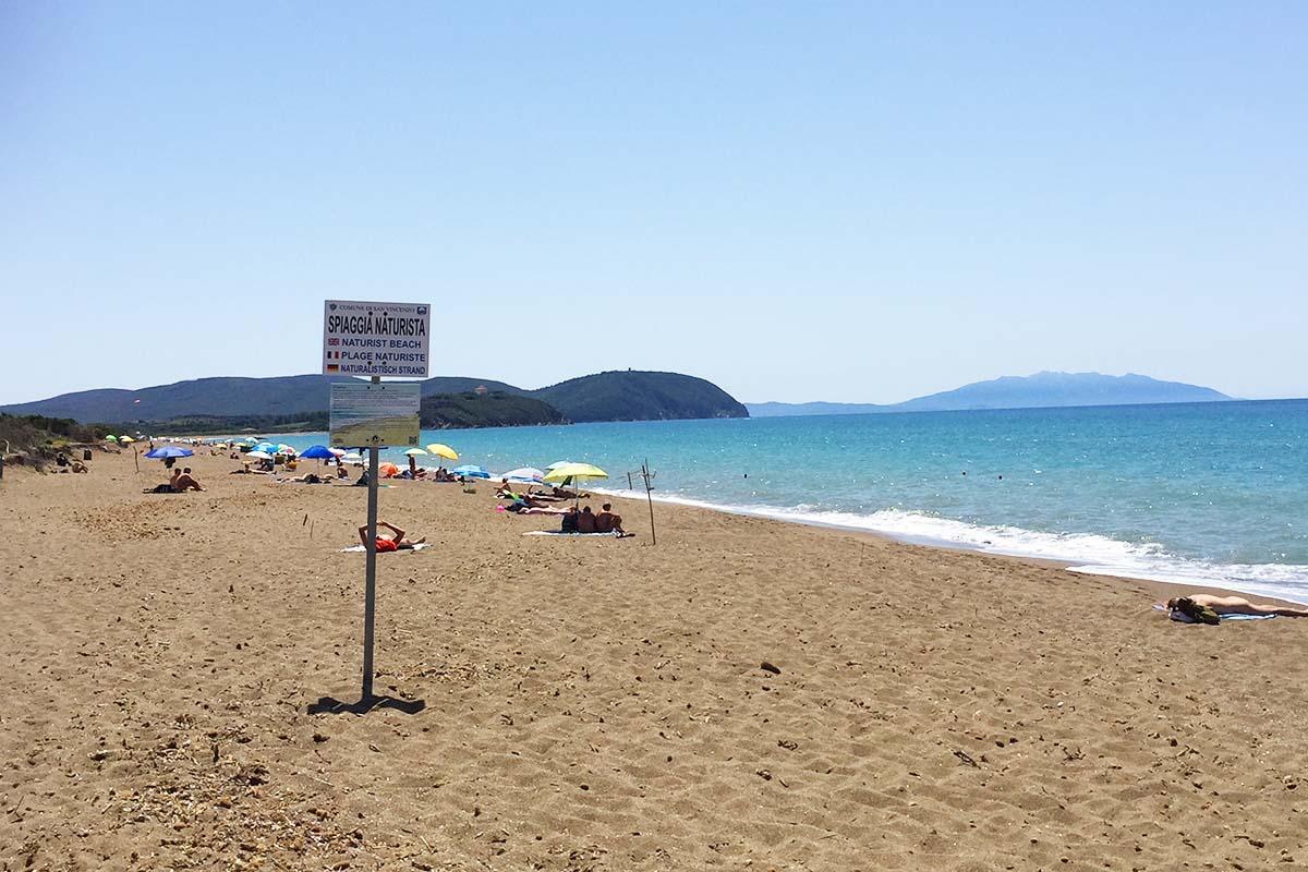 Nude beach in Italy
