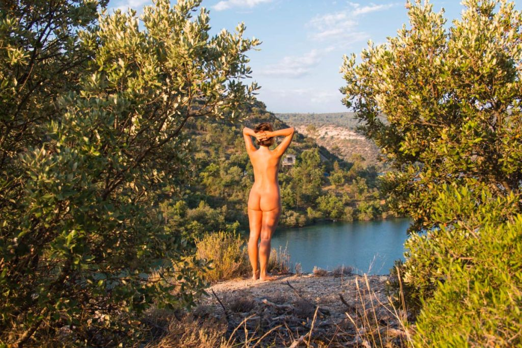 Naturist camping in the French Alpes