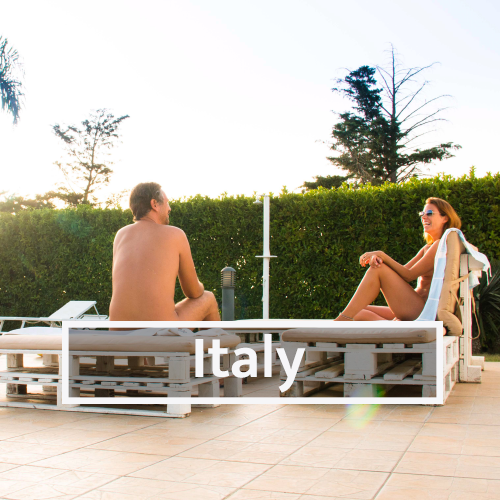 Nudist & Naturist destinations in Italy